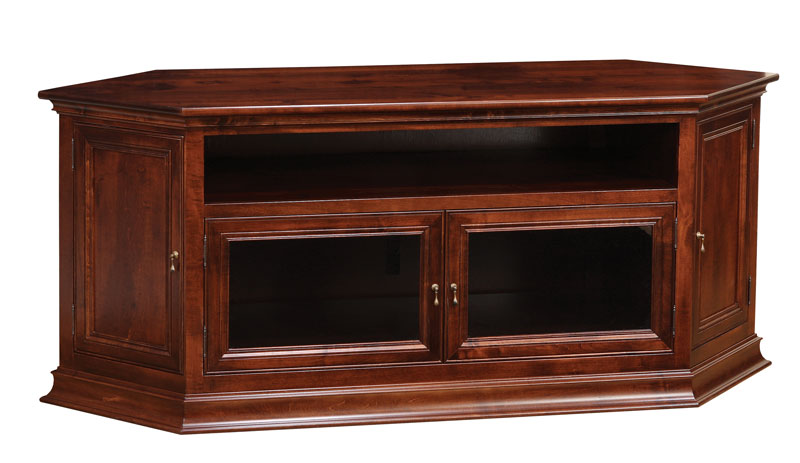 Breckenridge #52 Corner or Wall TV Stand in Brown Maple