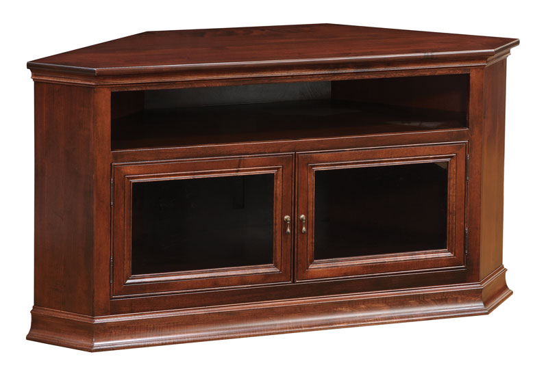 wood corner tv stand Breckenridge #40 Corner TV Stand   Ohio Hardword & Upholstered  wood corner tv stand