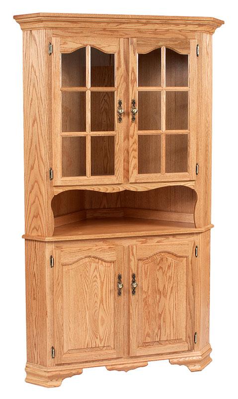classic design 2 door corner hutch ohio hardwood furniture