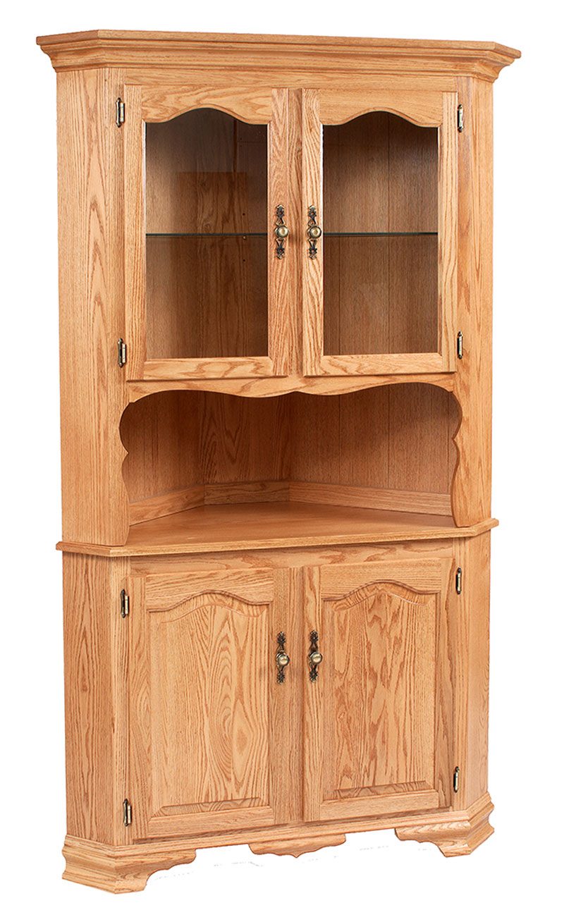 Classic Design 2 Door Corner Hutch