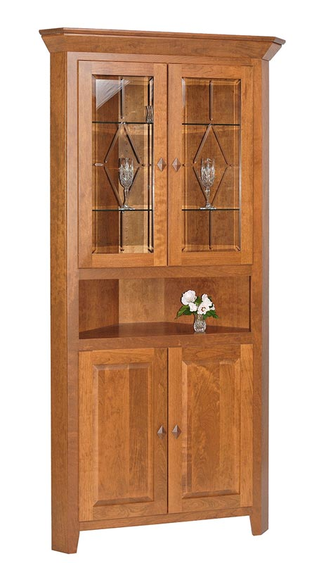 Diamond Elements 2 Door Corner Hutch