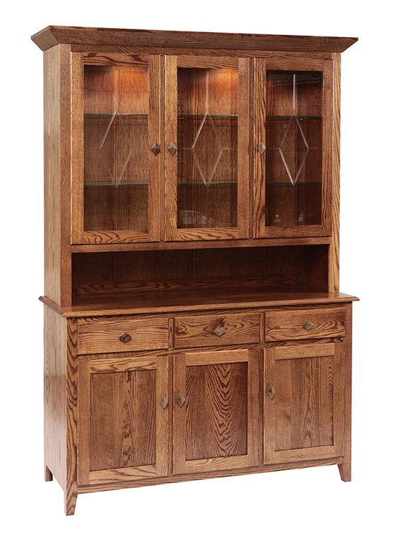 Diamond Elements Three Door China Hutch