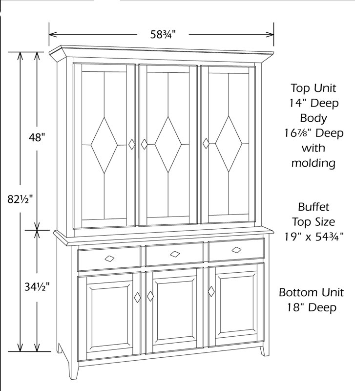 Typical China Cabinet Dimensions Home Design Ideas