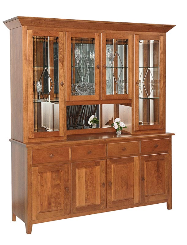 Diamond Elements Four Door China Hutch
