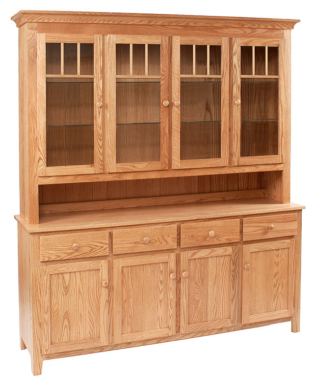Shaker Impression Four Door China Hutch