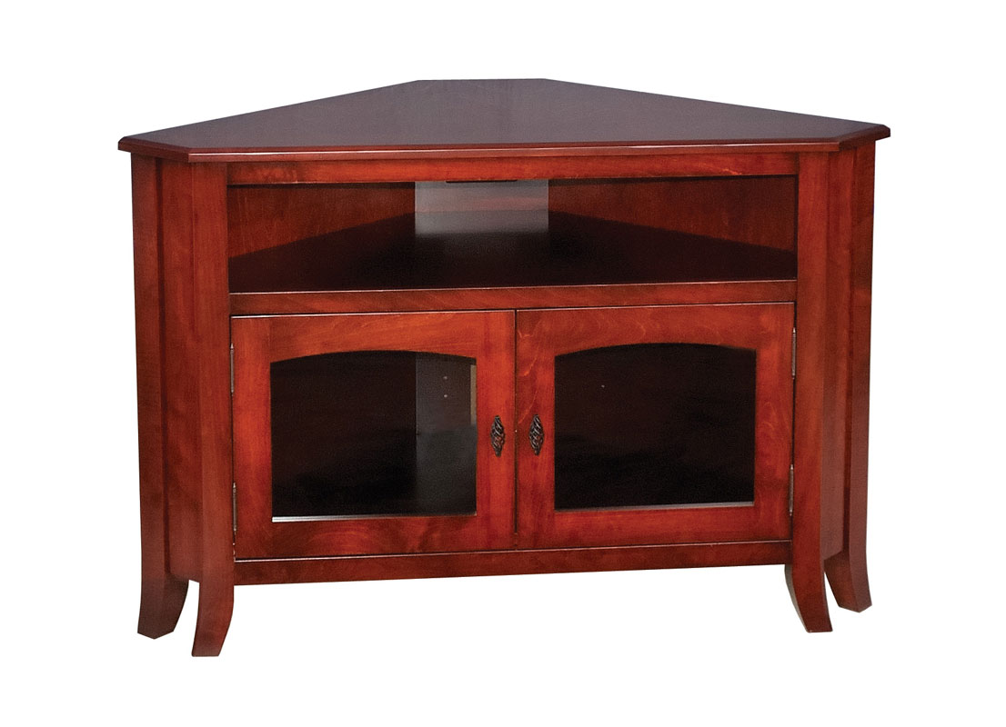 Young Mission 32 Corner Tv Stand Ohio Hardwood Upholstered