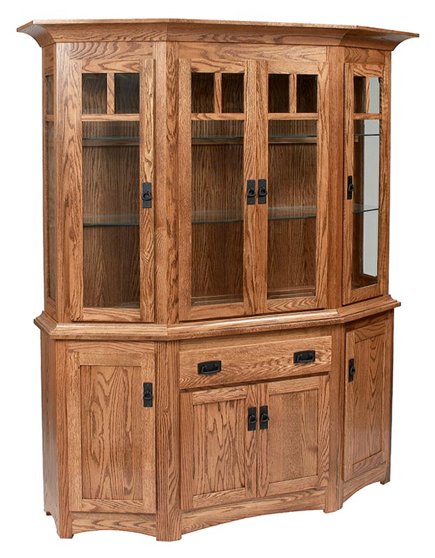 Canted Mission 4 Door China Hutch