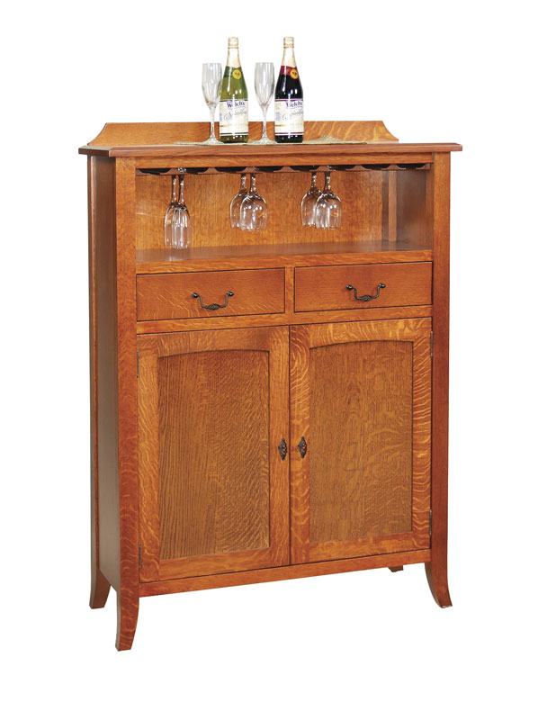 Old World 40 Wine Cabinet With Drawers In Quartersawn White Oak Michael S Cherry Stain