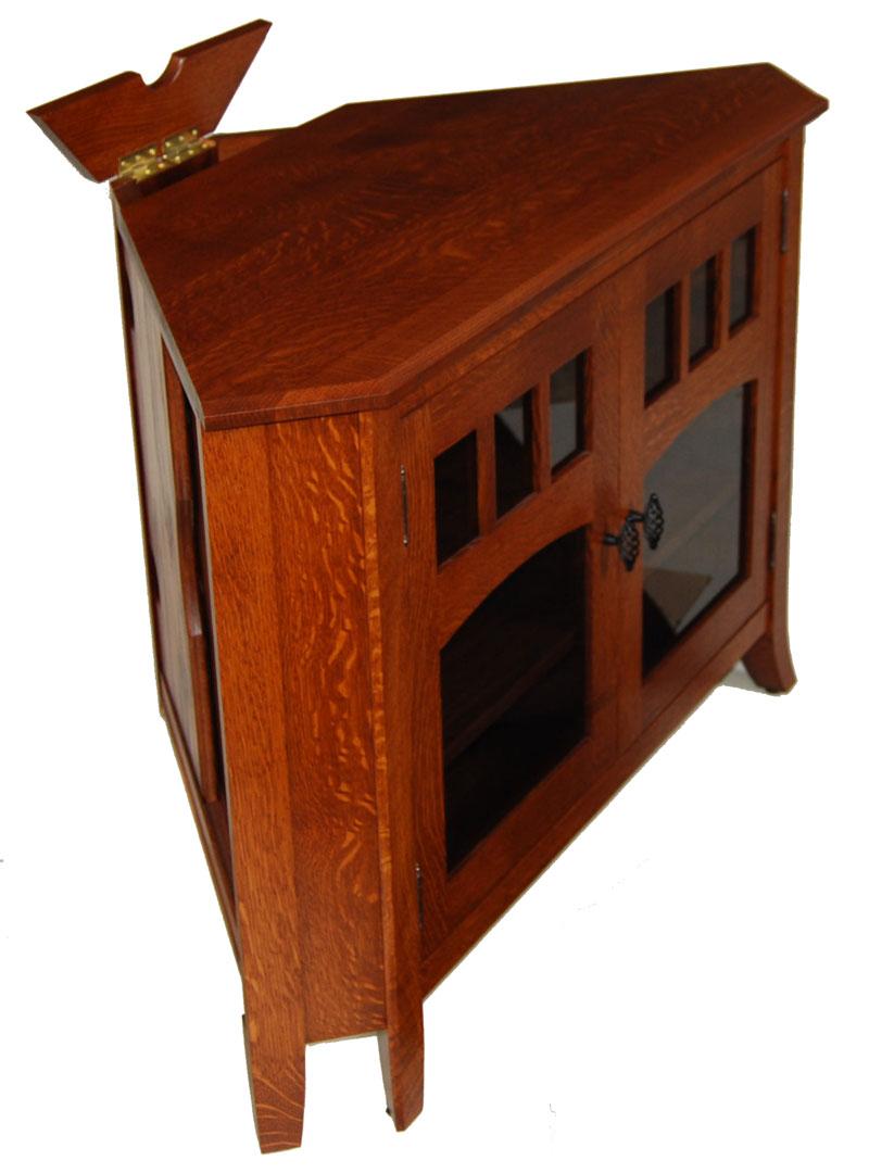 old world 32n corner tv stand ohio hardwood furniture. Black Bedroom Furniture Sets. Home Design Ideas