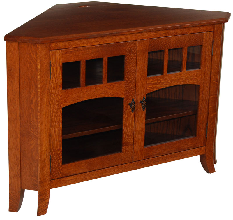 Gentil Old World #32N Corner TV Stand