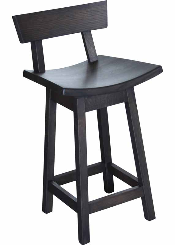 Athens Swivel Stool with Back