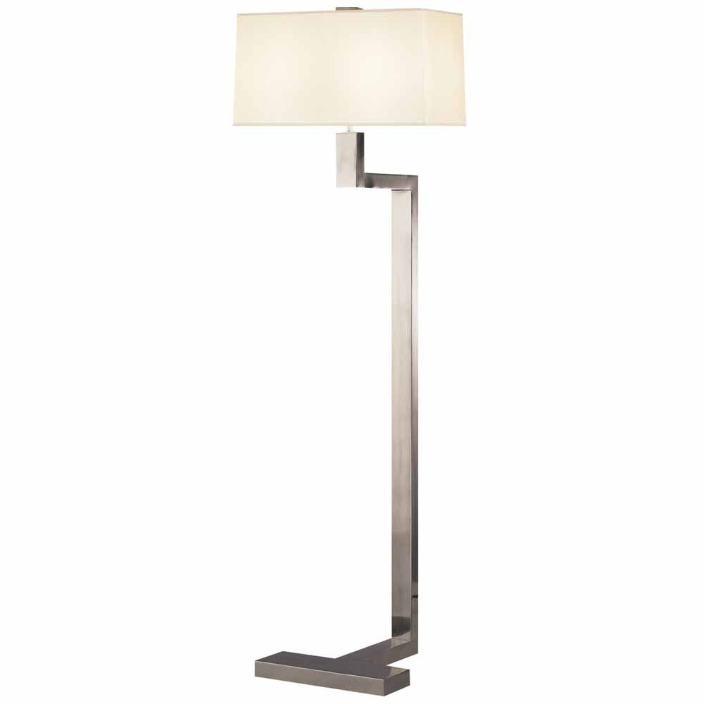 Doughnut Floor Lamp in Antique Silver
