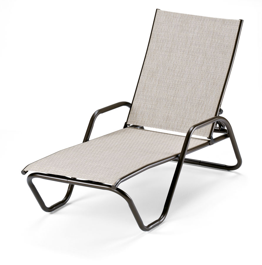 Telescope Casual Gardenella Sling Four-Position Lay-Flat Stacking Chaise