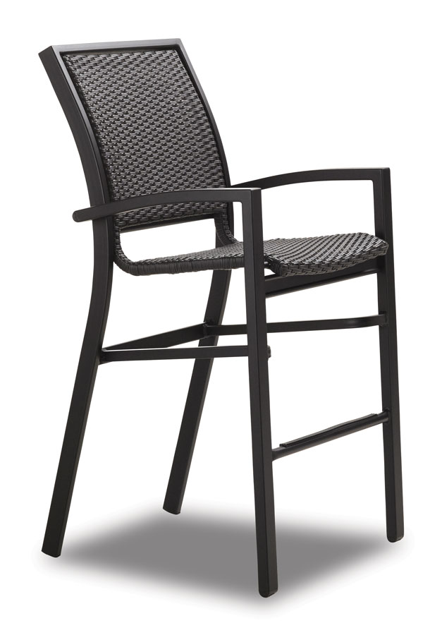 Telescope Casual Kendall Wicker Bar Height Stacking Cafe Chair