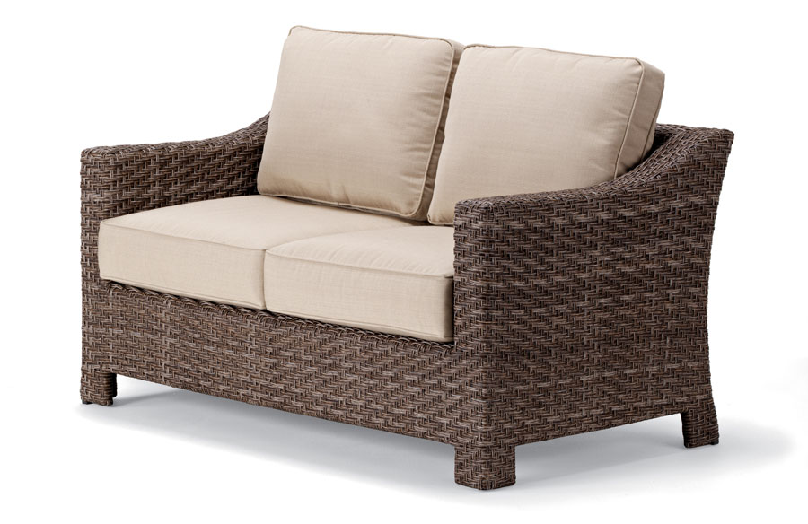 Telescope Casual Lake Shore Wicker Two-Seat Loveseat