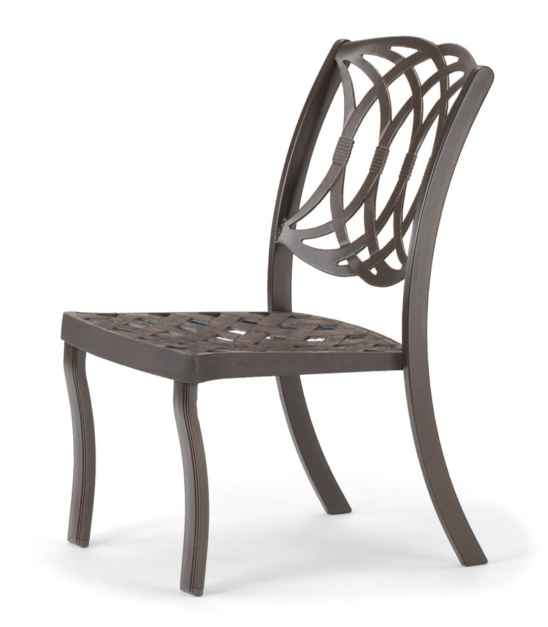 Telescope Casual Ocala Cast Aluminum Stacking Armless Chair