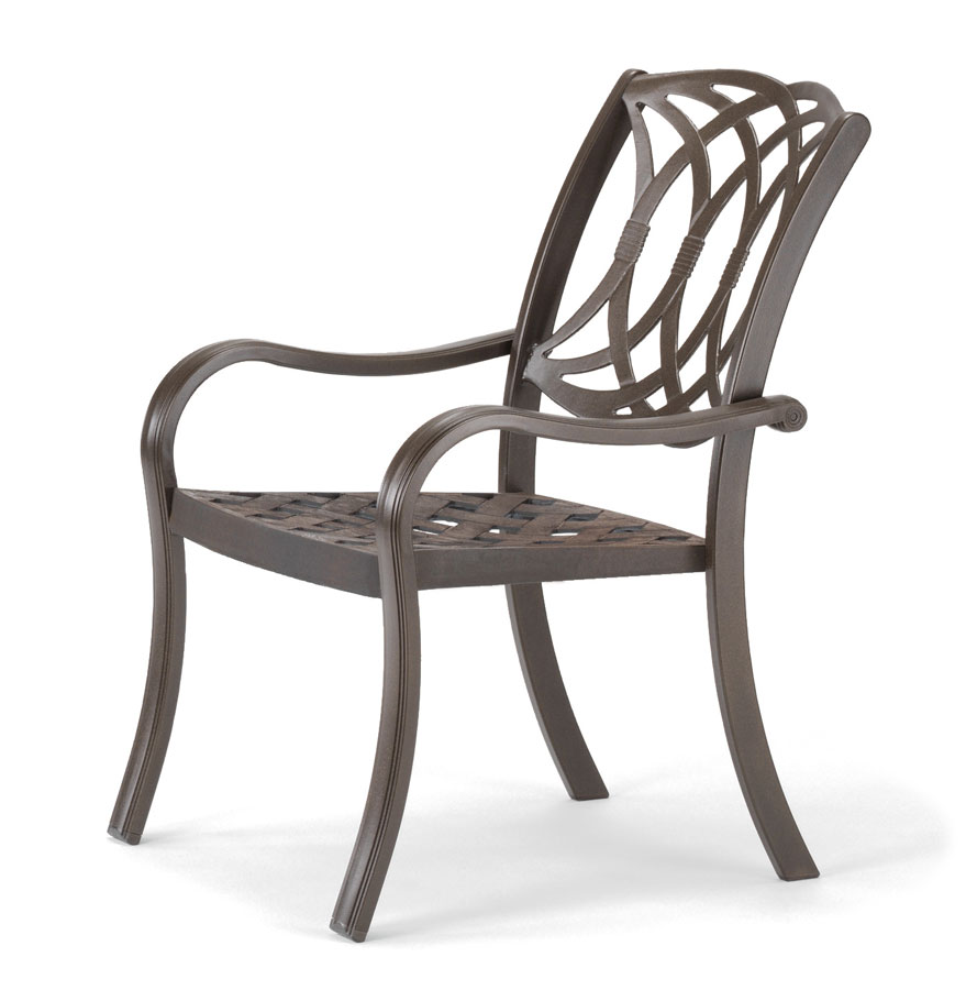 Telescope Casual Ocala Cast Aluminum Stacking Arm Chair