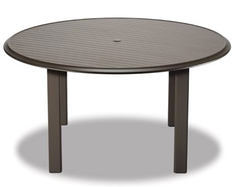 Telescope Casual Inch Round Aluminum Slat Table Top With Hole - 56 inch round table