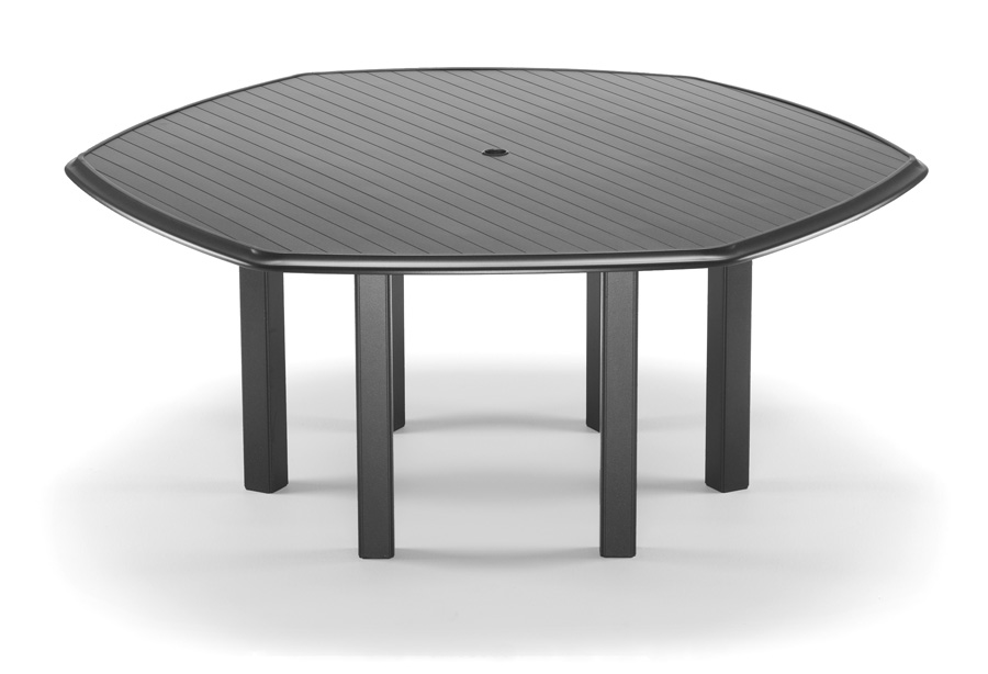 Telescope Casual 63 inch Hexagonal Aluminum Slat Table Top with Hole