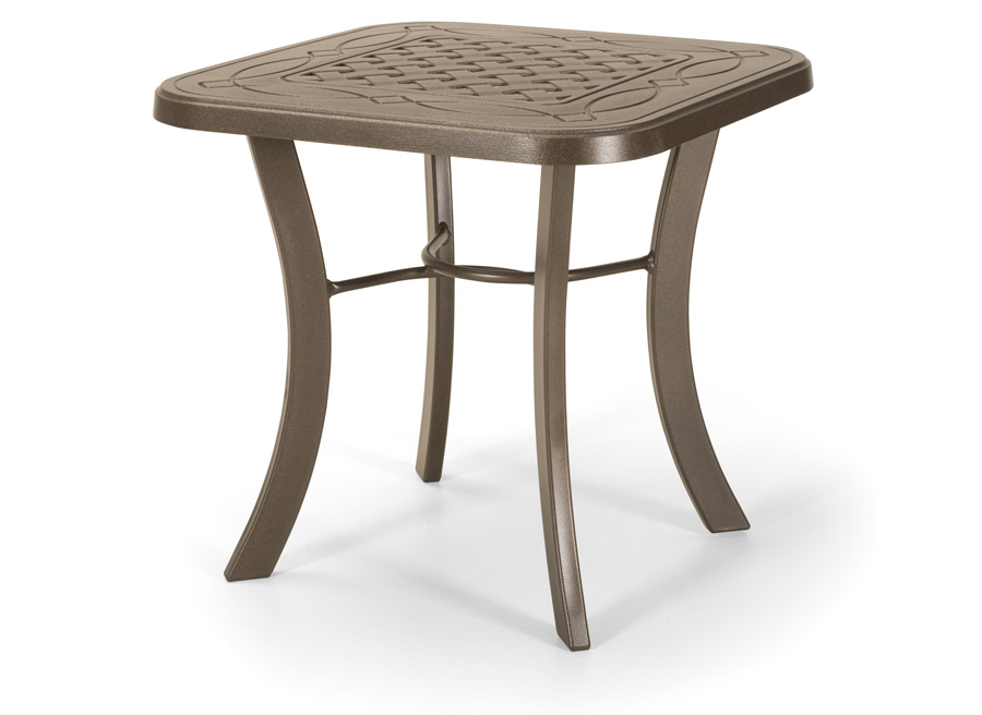 Telescope Casual 22 inch Square Cast Top End Table