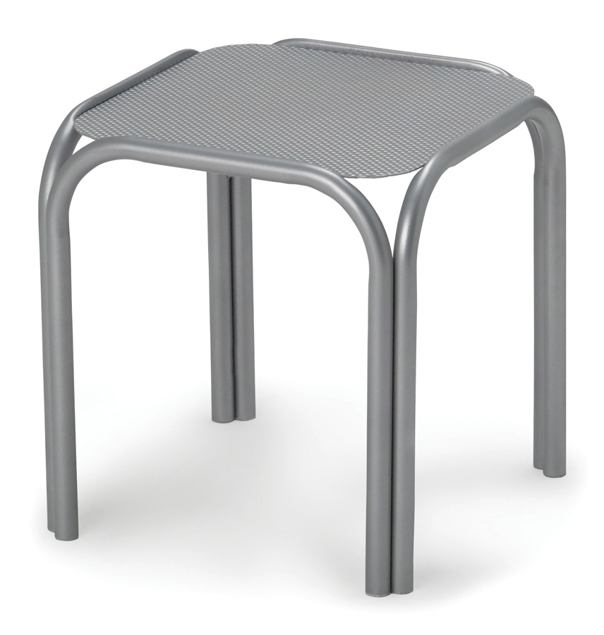 Telescope Casual 17 inch Square Embossed Aluminum Top End Table