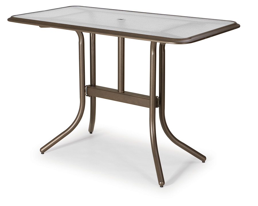 60 Rectangular Glass Top Dining Table: Telescope Casual 32