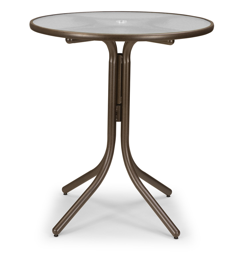 "Telescope Casual 36"" Round Bar Height Acrylic Top Table with Hole"