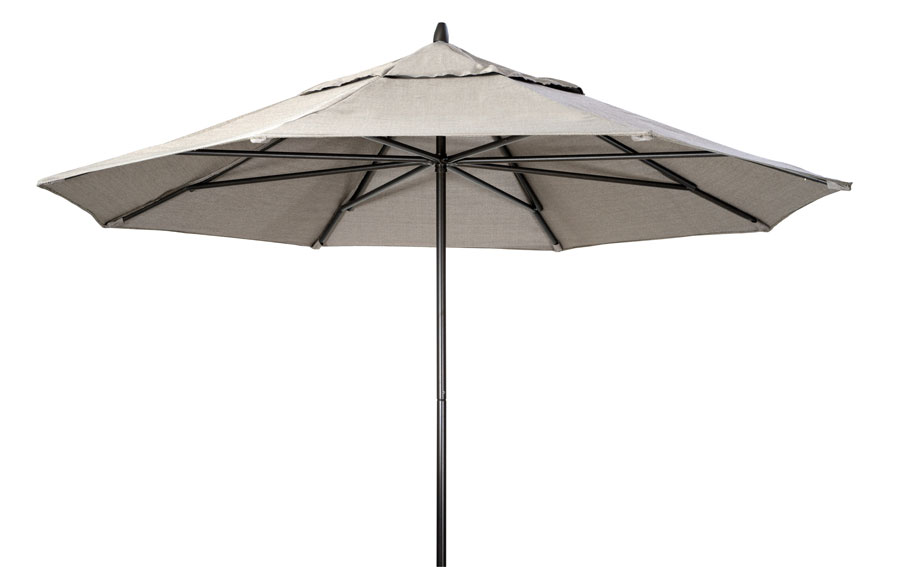 Telescope Casual 11' Powdercoat Aluminum Commercial Market Umbrella