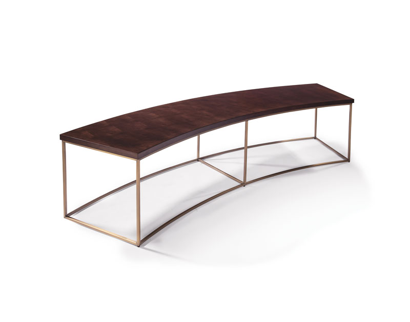 Thayer Coggin 1331-20-B Curved Sofa Table by Milo Baughman
