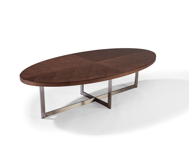 Thayer Coggin 1333-12 Mabel Maple Oval Cocktail Table