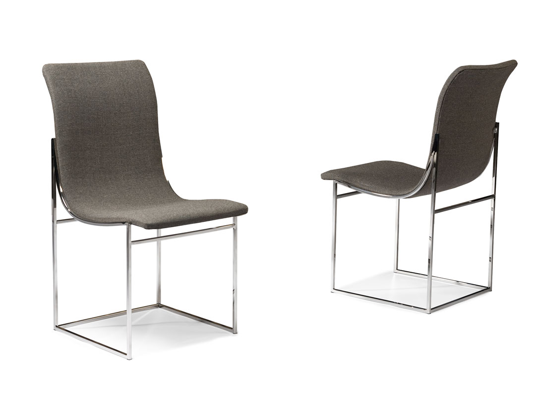 Thayer Coggin 1236-110 Larry Armless Dining Chairs by Milo Baughman