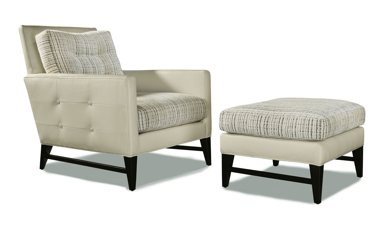 Thayer Coggin 1295-103 Talking Back Chair and 1295-000 Ottoman