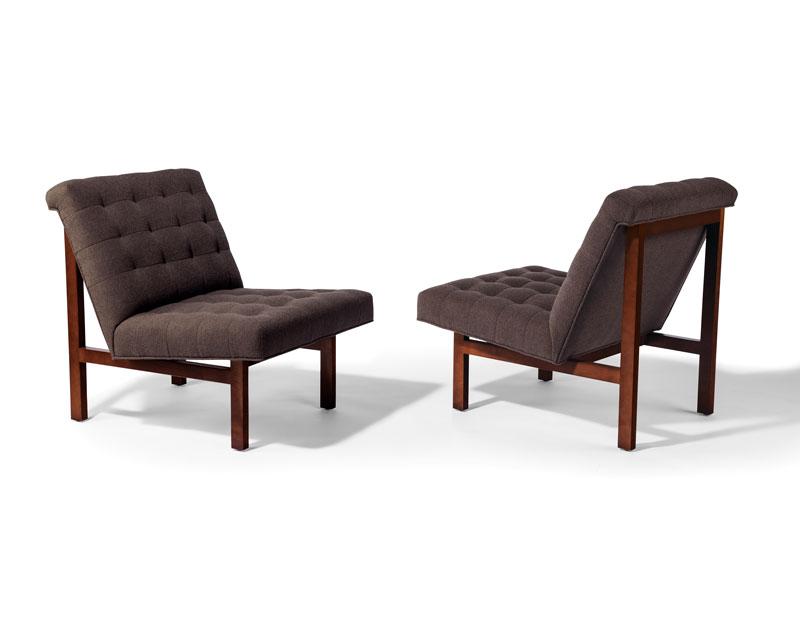 Thayer Coggin 1337 100 Robin Armless Chair By Milo Baughman