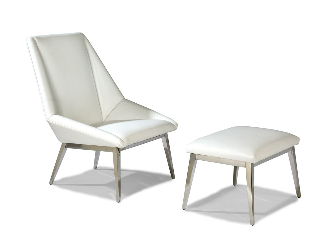 Thayer Coggin 1212-103 Origami Lounge Chair and 1212-000 Ottoman