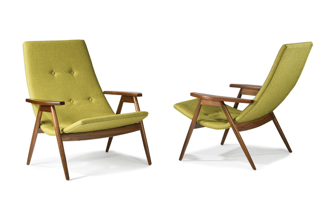 Thayer Coggin 1254-103 Eggshell Lounge Chair by Allan Gould