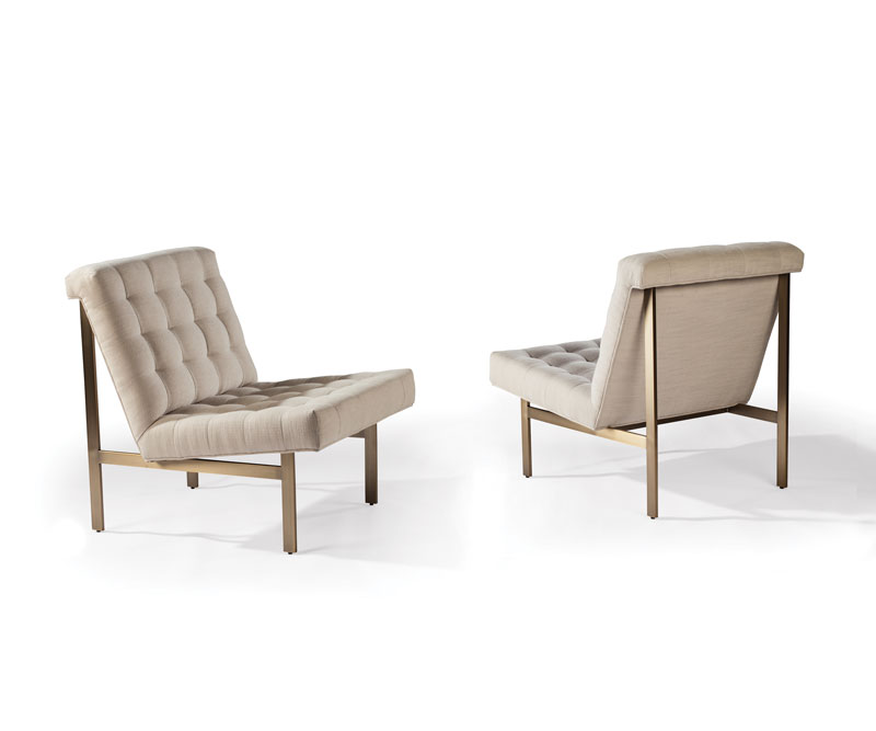 Thayer Coggin 1315-100-B Wright Chairs by Milo Baughman