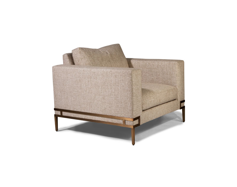 Thayer Coggin 1339-103-B Manolo Lounge Chair in Brushed Bronze
