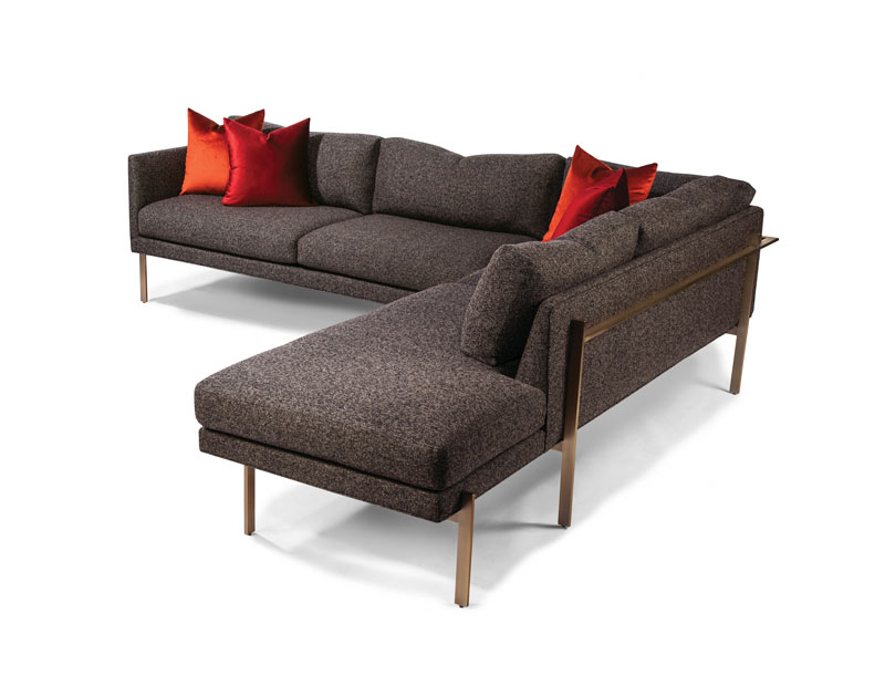 Thayer Coggin 1314-B Series Drop In Sectional in Brushed Bronze