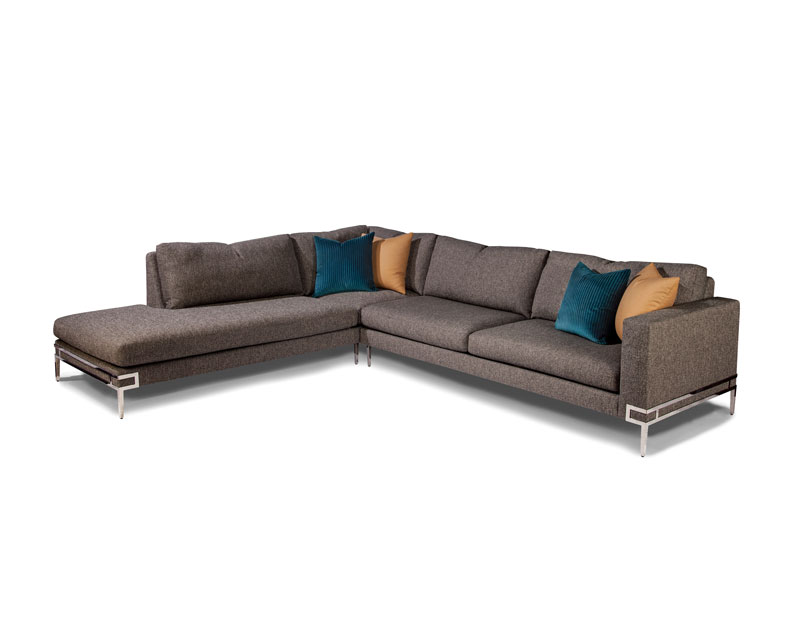 Thayer Coggin 1339 Manolo Series Sectional in Stainless Steel