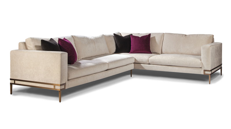 Thayer Coggin 1339-B Manolo Series Sectional in Brushed Bronze