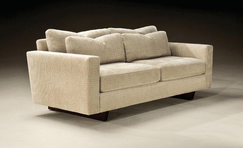 Thayer Coggin 1096 313 Clip Straight Two Arm Sofa
