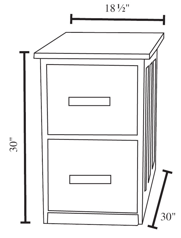 2 Drawer Dimensions