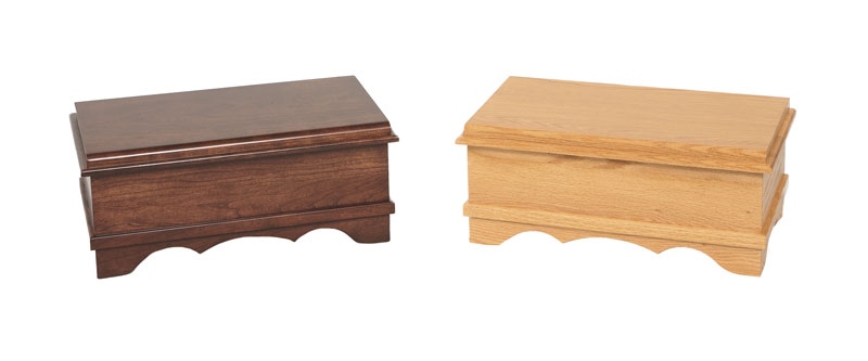 Classic Jewelry Chests in Cherry and Oak