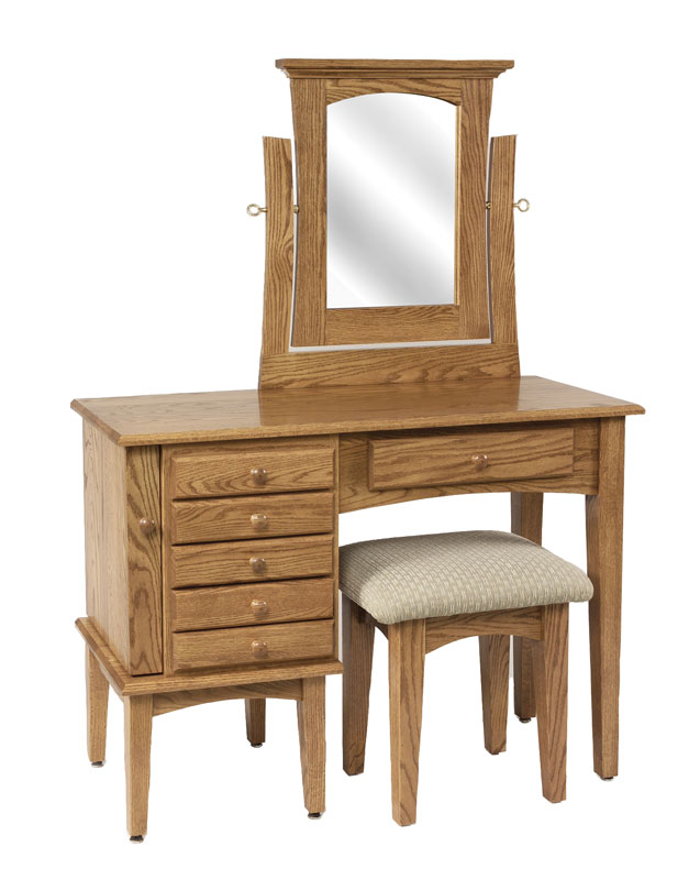 "42"" Shaker Jewelry Dressing Table with Mirror (stool sold separately)"