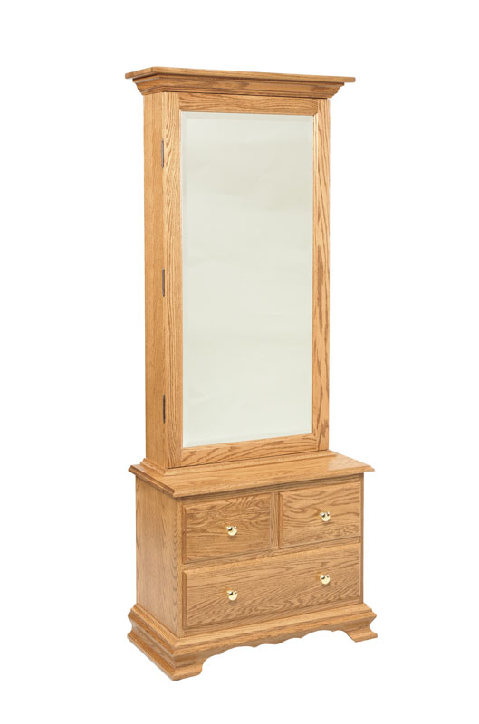 Bennett Mirrored Armoire with 3 Drawer Base