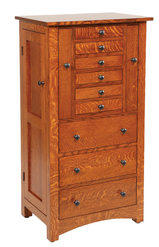 Deluxe Flush Mission Jewelry Armoire