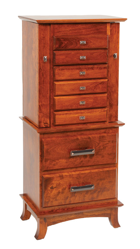 Split Shaker Jewelry Armoire with 5