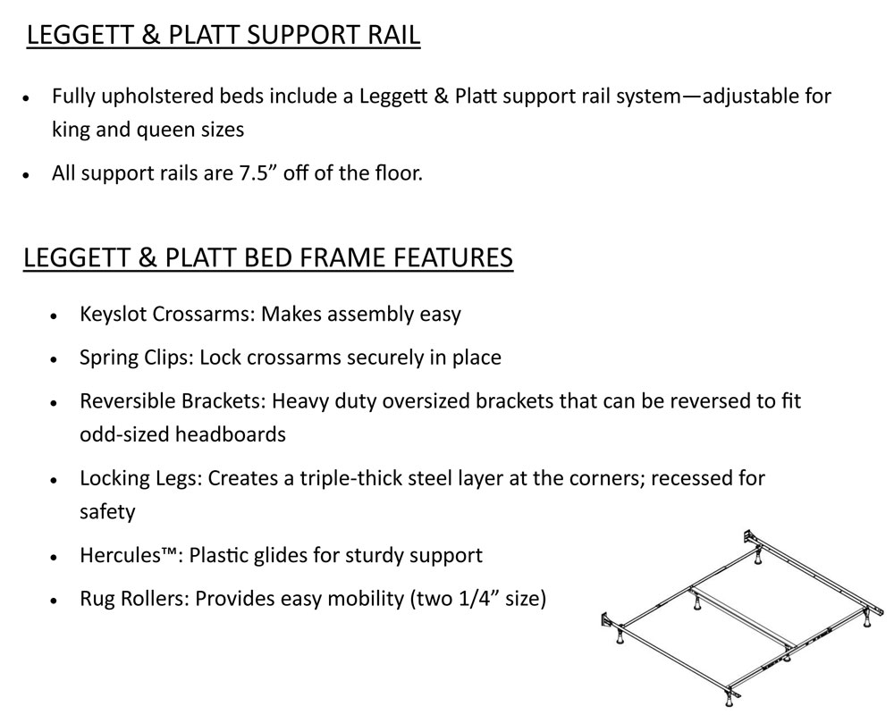 Leggett & Platt Support Rail and Bed Frame Features