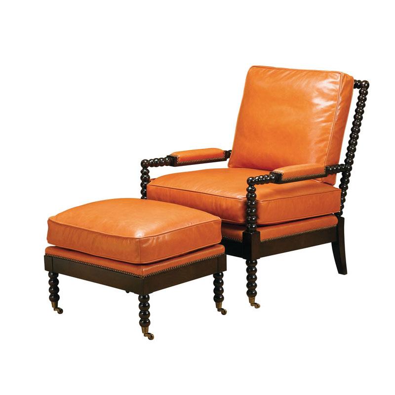 Wesley Hall L7080 Marshall Chair And L7080 24 Marshall Ottoman Ohio Hardwoo