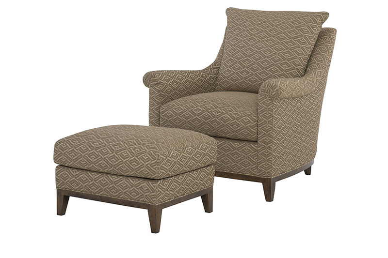 Wesley Hall 2007 Snyder Chair and 2007-24 Ottoman